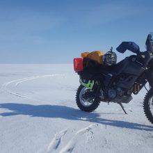Motociklu – į šalčiausią vietą žemėje