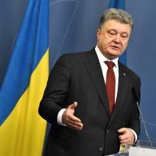 P. Porošenka: Rusija savo veiksmais siekia sunaikinti Ukrainą