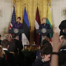 D. Trumpas išnaudojo Baltijos šalių vadovų vizitą vidaus politikai