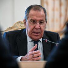 S. Lavrovas: NATO plėtra Balkanuose nekelia grėsmės Rusijai