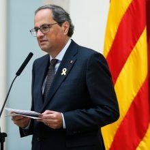 """Katalonų lyderis kritikuojamas dėl """"Slovėnijos kelio"""" į nepriklausomybę"""