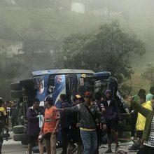 Ekvadore per autobuso avariją žuvo 12 futbolo sirgalių