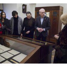 Muziejuje – vertingi J. Naujalio eksponatai