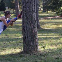 Jaunieji bėgikai išmėgino jėgas Kulautuvos parke