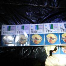 Trys Šalčininkų rajono gyventojai gabeno 4,5 tūkst. pakelių rūkalų