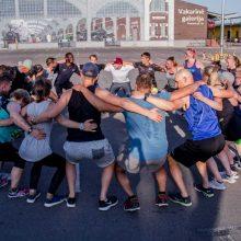 Startuoja masinės treniruotės: kauniečiai renkasi netradicines sporto erdves