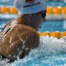 Plaukikė R. Meilutytė 50 m krūtine rungtyje liko ketvirta