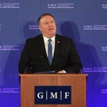 M. Pompeo gynė JAV užsienio politiką ir negailėjo kritikos Kinijai, Rusijai ir Iranui