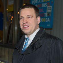 Estijos premjeras atšaukė kelionę į Rusiją