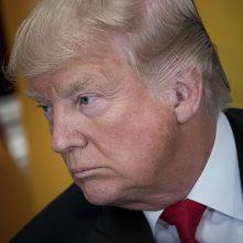 """Šiaurės Korėja D. Trumpo grasinimą vadina """"šuns lojimu"""""""