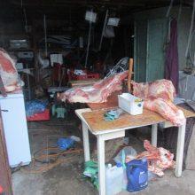Mėsos perdirbimo įmonėje policija atliko 20 kratų