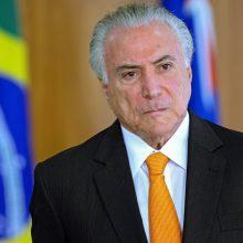 Sulaikytas buvęs Brazilijos prezidentas M. Temeris