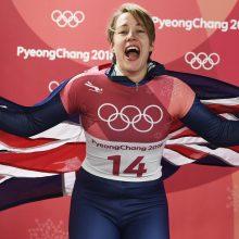 Didžiosios Britanijos skeletonininkė L. Yarnold antrą kartą tapo olimpine čempione