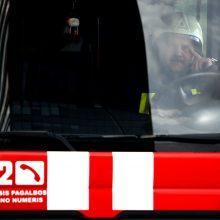 Netoli autobusų stoties kilus gaisrui evakuota 20 žmonių
