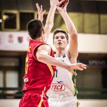 Lietuvos jaunučių krepšinio rinktinė Europos čempionatą pradėjo lengva pergale