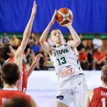 Lietuvos 16–mečių vaikinų krepšinio rinktinė iškopė į Europos čempionato finalą
