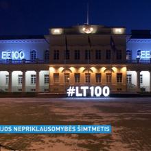 Įvairios Vilniaus miesto vietos pasipuoš Estijos vėliavos spalvomis