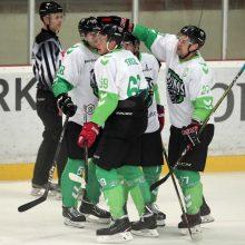 """""""Kaunas Hockey"""" ledo ritulininkai po pratęsimo nusileido """"Hockey Punks"""" ekipai"""