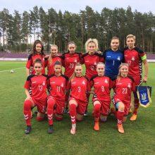 19-mečių merginų futbolo rinktinė pergale baigė Europos čempionato atranką