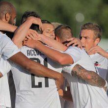 """Europos lyga: """"Sūduvos"""" futbolininkai iškovojo pergalę Rygoje"""