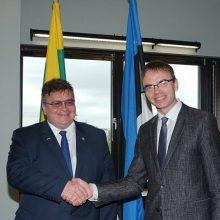 Lietuva ir Estija aptarė Europos Sąjungos darbotvarkės klausimus