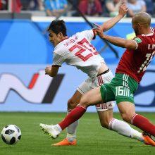 Pasaulio futbolo čempionatas: Iranas nugalėjo Maroką