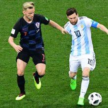Kroatai sutriuškino argentiniečius ir pateko į pasaulio čempionato aštuntfinalį