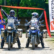 Pasaulį motociklais apkeliavę lietuviai Asta ir Linas grįžo namo: kvepia rekordu