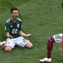 Pasaulio futbolo čempionatas: Meksikos rinktinė sutramdė Vokietijos puolimo mašiną