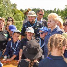 D. Grybauskaitė linki skautams pritraukti dar daugiau jaunimo