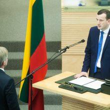 Prisiekė ūkio ministras V. Sinkevičius