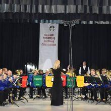 """Laurai: Babtų kultūros centro vario dūdų orkestras """"Algupys"""", vadovaujamas Jono Girniaus, Lietuvos pučiamųjų instrumentų orkestrų čempionate B kategorijoje pelnė pirmą vietą."""