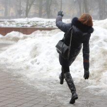 Šaltuoju laikotarpiu traumų patyrė beveik 2 tūkst. žmonių