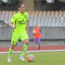 """""""Trakų"""" futbolininkas D. Česnauskis: laikas pradėti žaisti ir rinkti taškus"""