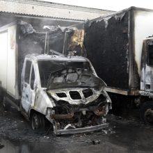 Užsiliepsnojus statybiniam vagonėliui žuvo žmogus