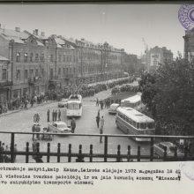 Gegužės 18-osios eitynių metu sutrikdytas transporto eismas