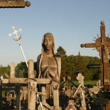 Įsiamžino: A.Juodris savo gyvenimo karjerą buvo pradėjęs kaip medžio drožėjas. Šiaulių rajone esančiame Kryžių kalne tebestovi išdrožta trijų metrų aukščio Dievo motina.