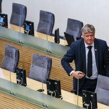 Aplinkos ministras K. Navickas išsaugojo postą