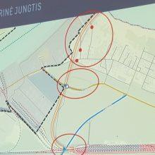 Schema: taip uosto bendrajame plane preliminariai dėliojama šiaurinė jungtis į išorinį uostą.