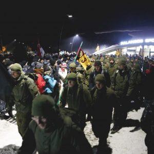Pagerbiant Klaipėdos sukilimo dalyvių atminimą surengtas naktinis žygis