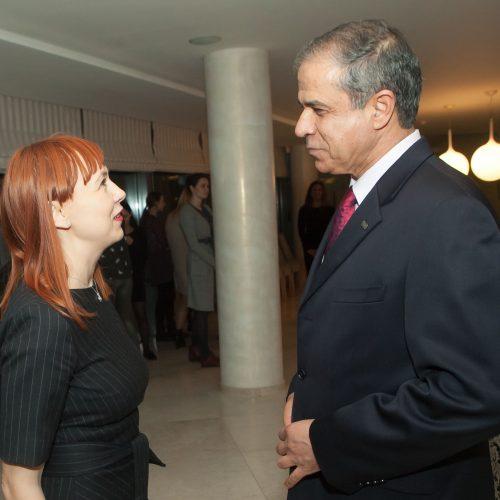 """Izraelio ambasadorius priėmė """"Kelrodes žvaigždes""""  © D.Labučio/ELTOS nuotr."""