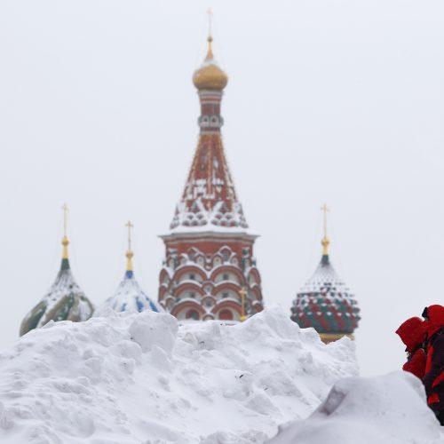 Maskvoje – gausiausia per šimtą metų sniego pūga
