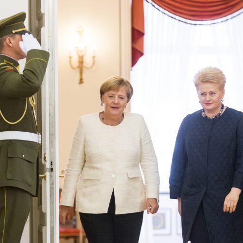 Į Lietuvą atvyko Vokietijos kanclerė A. Merkel