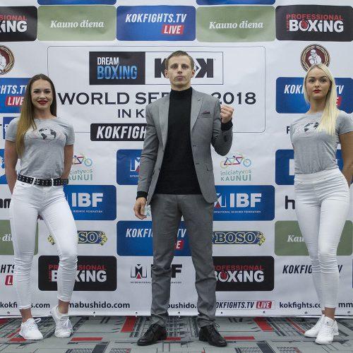 """""""Dream Boxing"""" ir KOK turnyro svėrimai  © Evaldo Šemioto nuotr."""