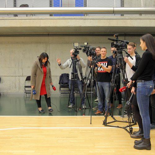 """""""Žalgirio"""" spaudos konferencija  © Evaldo Šemioto nuotr."""