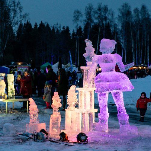 """Ledo skulptūrų ir šviesų festivalis """"Pasaka""""  © Teodoro Biliūno/Fotobanko nuotr."""
