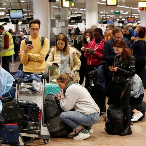 Spontaniškas streikas Briuselio oro uoste