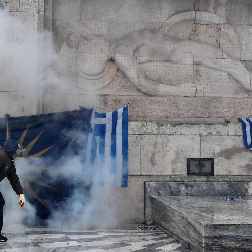 Protestas Atėnuose  © Scanpix nuotr.