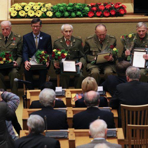 Laisvės premijos įteikimo partizanams ceremonija  © Dainiaus Labučio (ELTA), LR Seimo nuotr.