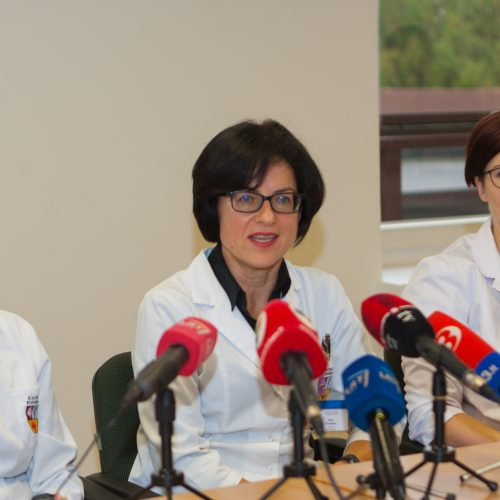 Spaudos konferencija apie Kaune gimusį ketvertuką  © Laimio Steponavičiaus nuotr.